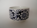 Gardenia Sugar Bowl blue Arabia