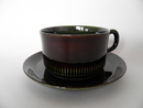 Oliv Tea Cup and Saucer Gefle