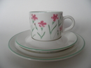 Dianthus deltoides Coffee Cup and 2 Plates Arabia SOLD OUT