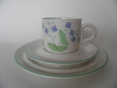 Veronica chamaedrys Coffee Cup and 2 Plates Arabia SOLD OUT