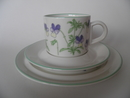 Viola tricilor Coffee Cup and 2 Plates Arabia SOLD OUT