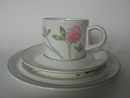 Trifolium pratense Coffee Cup and 2 Plates Arabia SOLD OUT