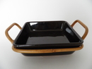 Kilta Platter with Rattan Frame Kaj Franck SOLD OUT