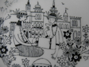 Emilia Picnic Wall Plate Arabia SOLD OUT