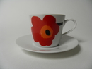 Unikko Coffee Cup and Saucer Marimekko SOLD OUT