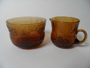 Fauna Sugar Bowl and Creamer brown