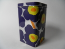 Unikko Tin Box high darkblue Marimekko