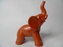 Kupittaan saven norsu ruskeanpunainen MYYTY