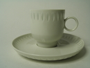 Rice Porcelain Coffee Cup ad Saucer Arabia
