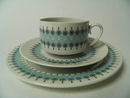 Louhi Coffee Cup and 2 plates Arabia