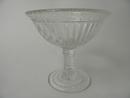 Kara footed Bowl clear glass