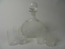 Flindari Carafe and 6 tumblers clear glasskirkas