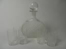 Flindari Carafe and 6 tumblers clear glasskirkas