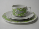 Esmeralda Coffee Cup and two Plates