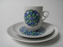 Marina Coffee Cup and 2 Plates Arabia