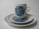 Marina Coffee Cup and 2 Plates Arabia