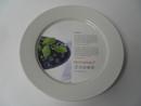Neilikka lautanen 20 cm valkoinen