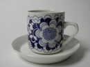 Gardenia Coffee Cup and Saucer blue