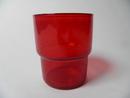 Stackable glass red Saara Hopea