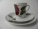 Rose Coffee Cup and 2 plates