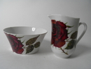 Rose Sugar Bowl and Creamer Arabia