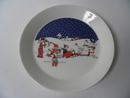Moomin Plate Christmas Greeting