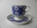 Ali Coffee Cup and Saucer blue SOLD OUT