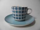 Pop Coffee Cup and Saucer turquoise SOLD OUT