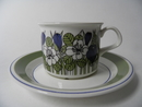 Krokus Coffee Cup and Saucer blue-green SOLD OUT