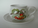 Pomona Portmeirion Tea Cup and Saucer Cherry