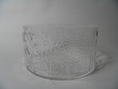 Flora Serving Bowl clear glass Oiva Toikka