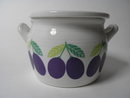 Pomona Plum Pot and a Lid Arabia