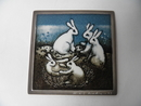 Sorrowing Bunnies Wall Plate Helja Liukko-Sundstrom SOLD OUT