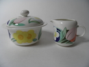 Arctica Poetica Sugar Bowl and Creamer Arabia SOLD OUT