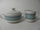 Louhi Sugar Bowl and Creamer Arabia