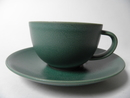 24h Tea Cup and Saucer green SOLD OUT