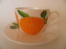 Primavera Coffee cup and Saucher orange
