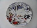 New Christmas Plate, large Arabia SOLD OUT