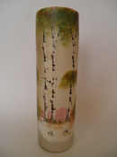 Vase handpainted old