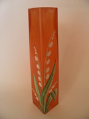 Vase orange handpainted