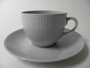 Sointu kahvikuppi ja aluslautanen sininen Arabia