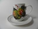 Pomona Portmeirion pieni kahvikuppi ja aluslautanen Päärynä