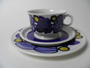 Nuppu Tea Cup and 2 Plates Arabia SOLD OUT