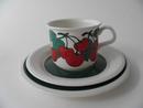 Kirsikka kahvikuppi ja 2 lautasta Arabia MYYTY
