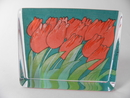 Glass Card Tulips HLS