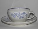 Sininen Keittiö Teekuppi ja aluslautanen