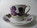 Violet Coffee Cup and Saucer Arabia