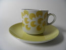 Coffee Cup yellow Figures Arabia SOLD OUT