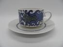 Esmeralda kahvikuppi ja aluslautanen sininen