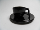 Ego Espresso cup and saucer black SOLD OUT